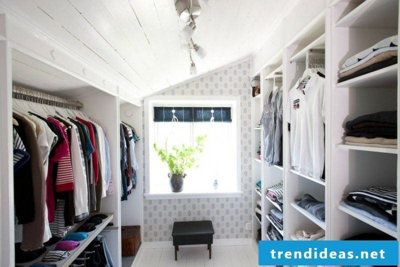 large walk-in closet under the roof