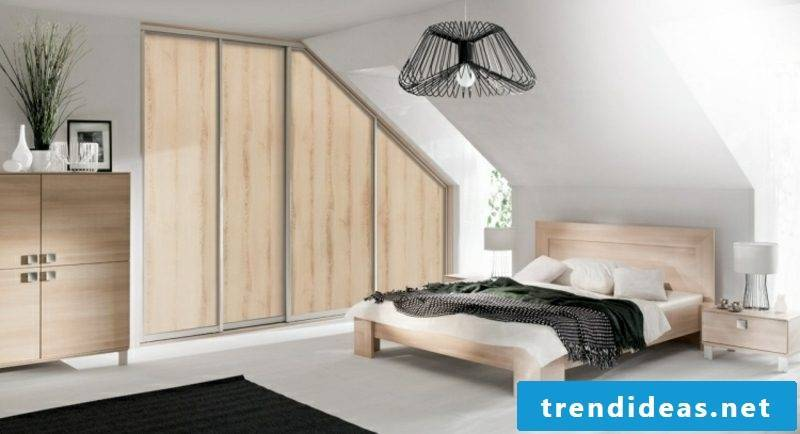 walk-in closet wooden pitched roof