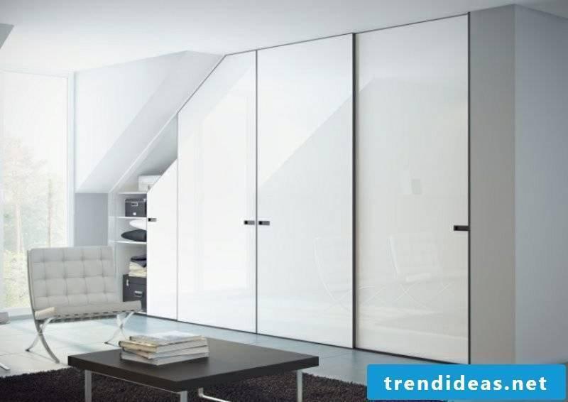 walk-in closet in white pitched roof
