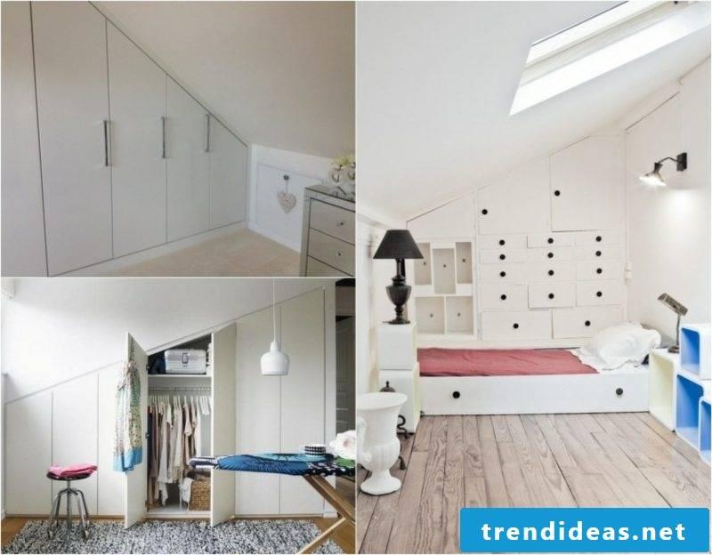walk-in closet under sloping ceiling creative ideas
