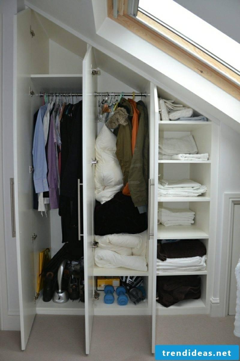 walk-in closet under roof slant smaller model