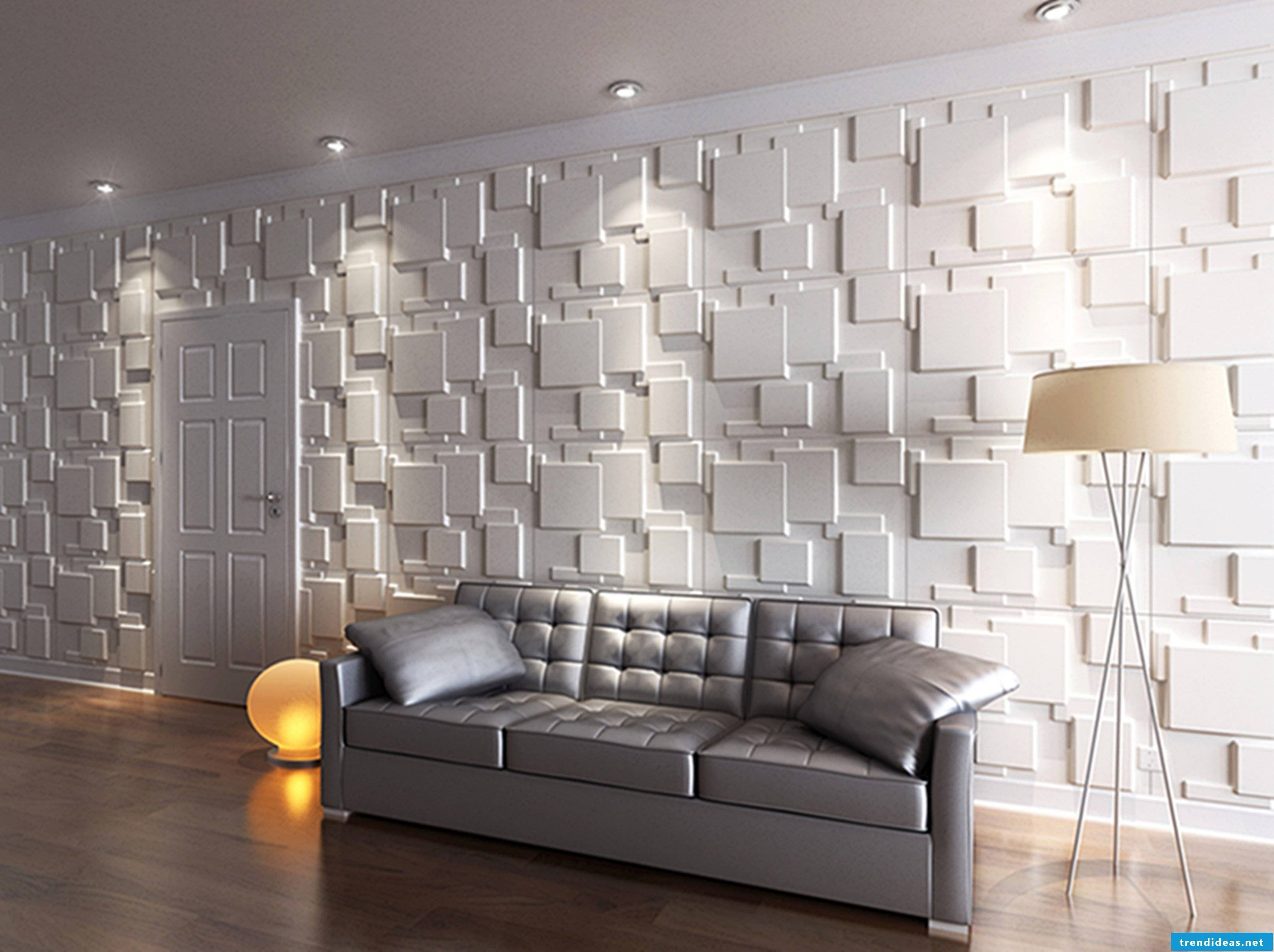 Do you like this 3D effect with this wall covering plastic