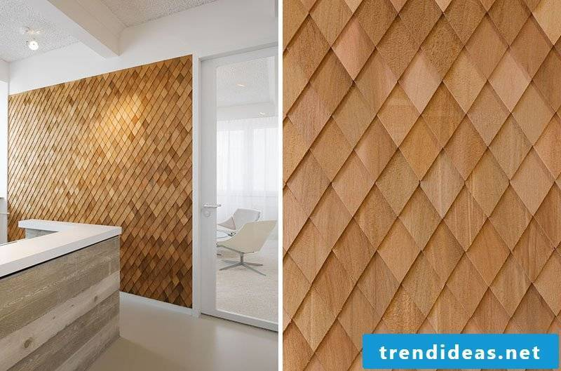 Wooden wallcovering - modern and stylish