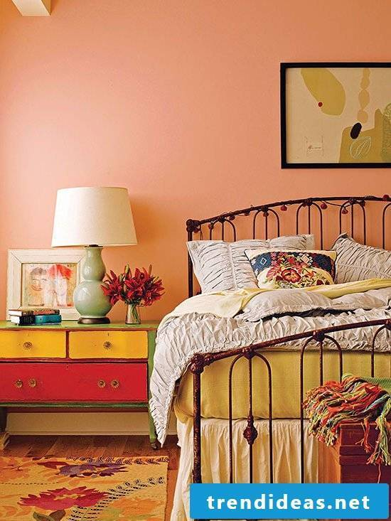 wall design bedroom vintage look home decor wall paint