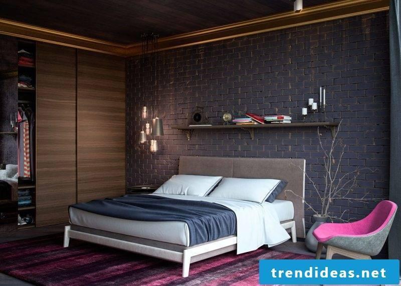 wall design bedroom ideas dark wall colors