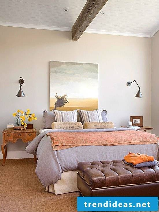 wall design bedroom ideas wall colors rustic decorating style