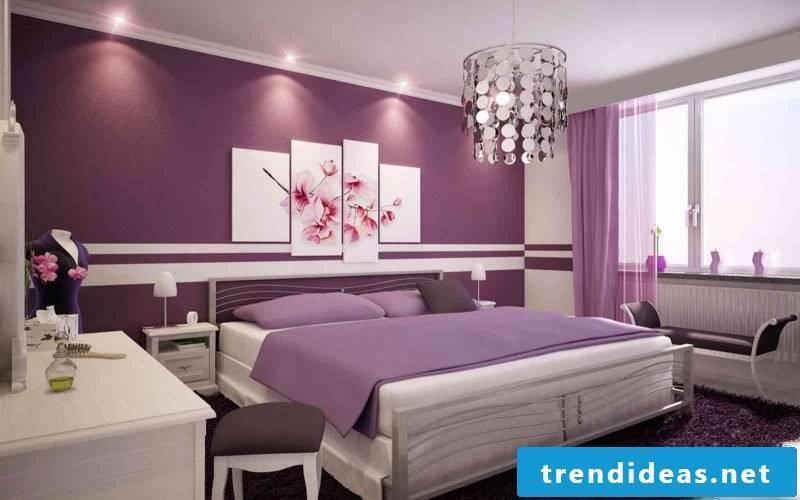 wall design bedroom ideas purple purple elegance home interior