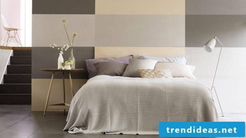 wall design bedroom ideas creamy white light brown