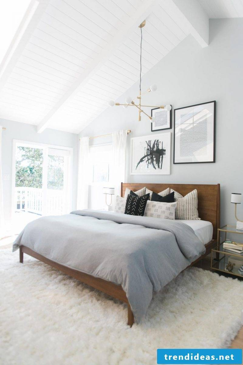wall design bedroom ideas white wall paint optical magnification