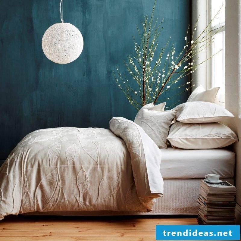 wall design bedroom ideas blue dark colors small rooms