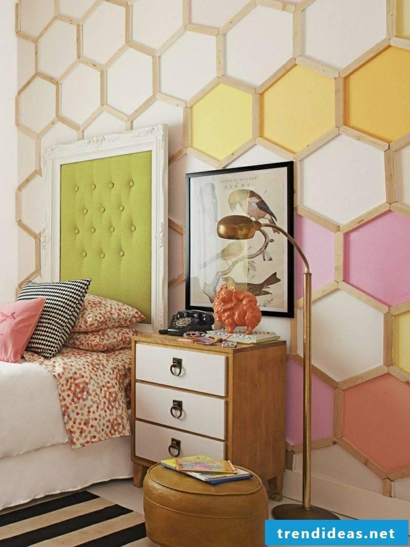 Wall decor wood DIY nursery honeycomb pattern