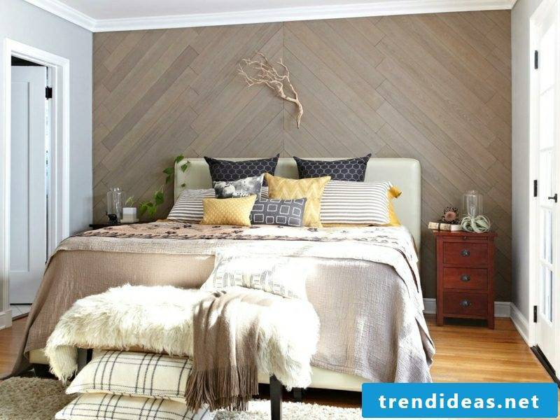 Wall decoration wood decorate the bedroom