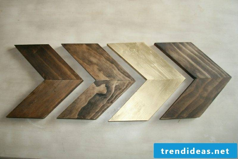 Wall decoration wood ideas with wooden boards