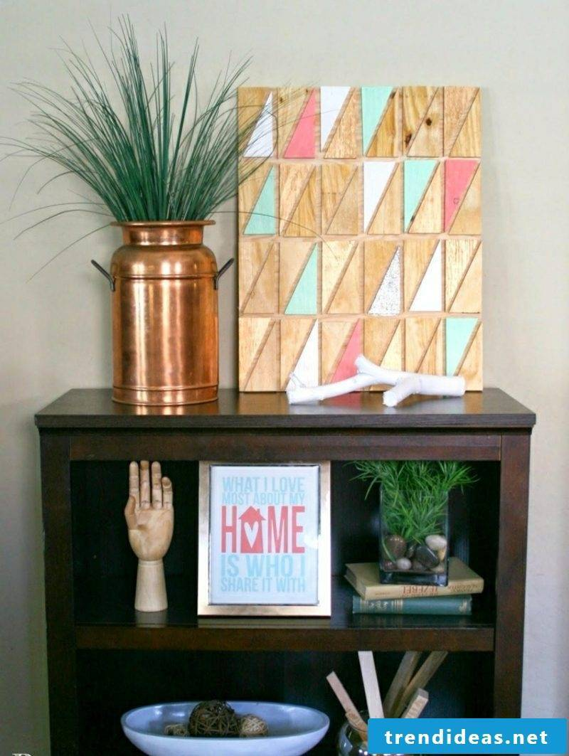 Wall decor wood inspiring ideas with plywood