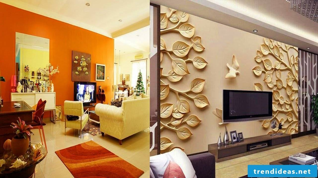 Noble elements for a smart living room wall design