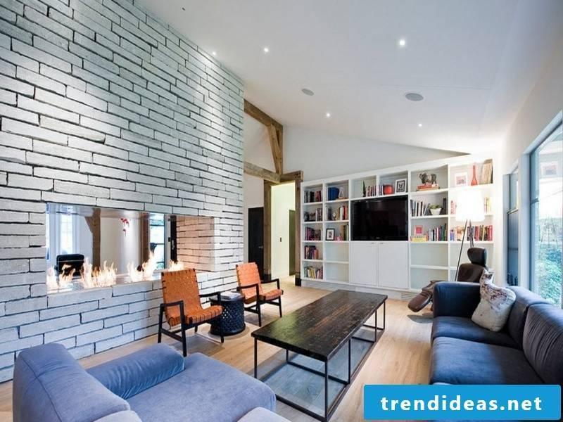 beautiful wall design with white bricks