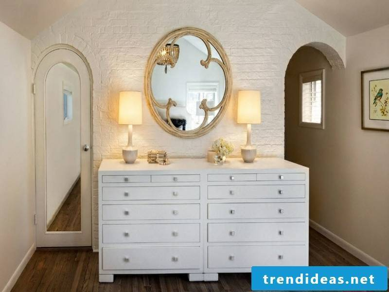 beautiful luxurious wall design with white bricks over a white wall