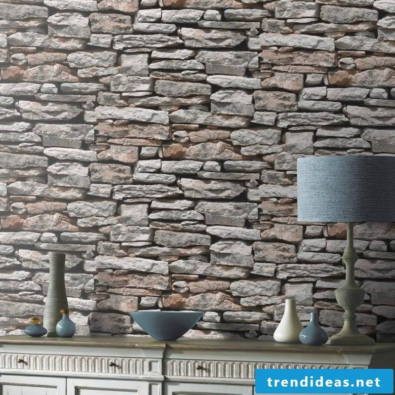 Wall mural cheap find with stone look