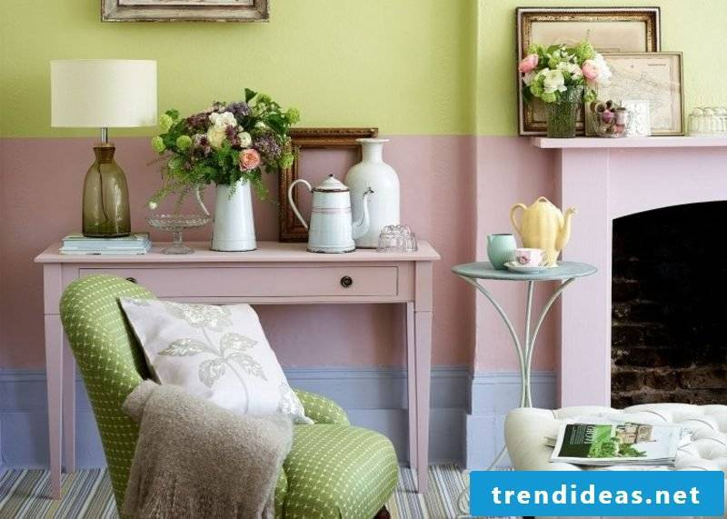 Color old rose and mint green gorgeous color combination wall
