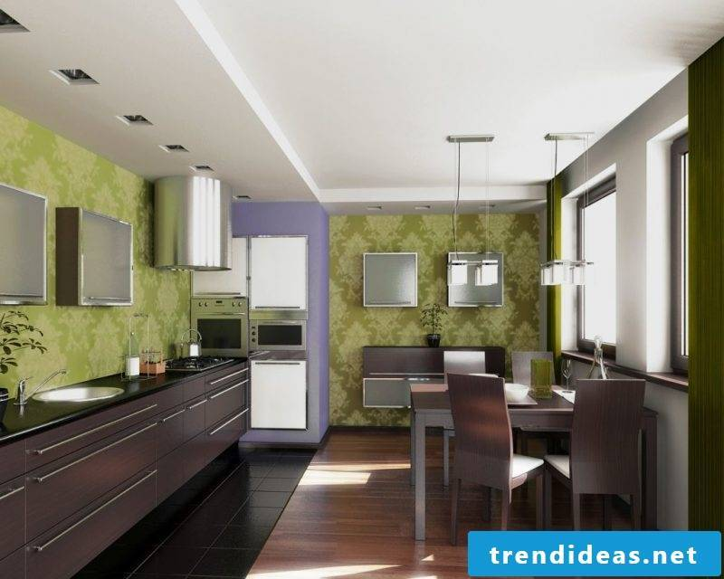 wallpaper for kitchen green