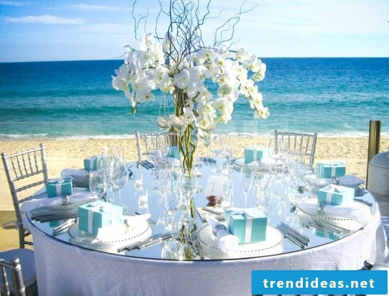wedding flower arrangements sea