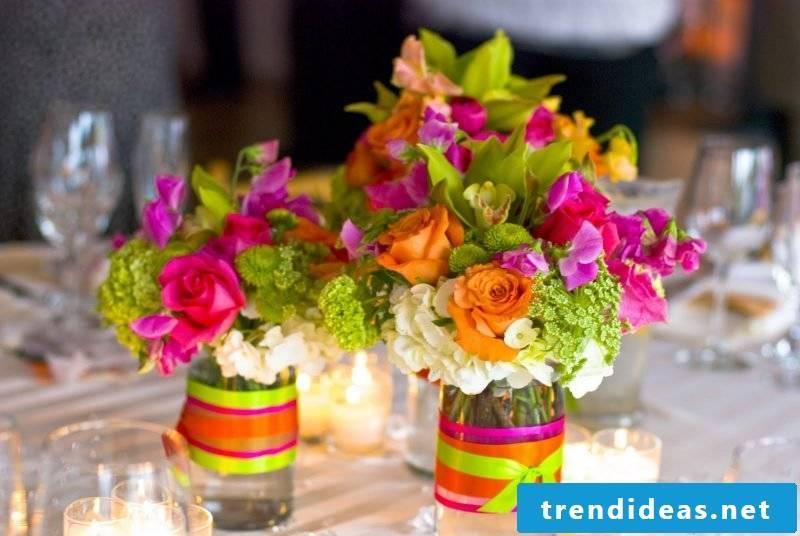 wedding flower arrangements summer