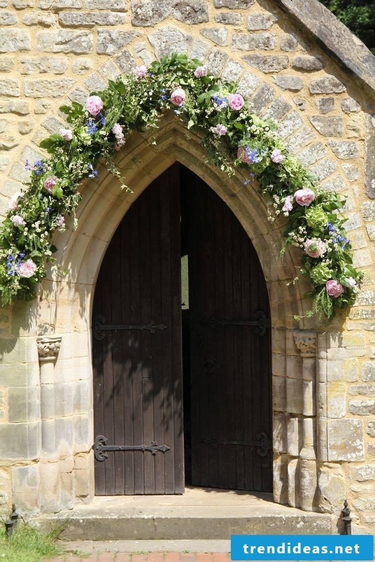 wedding flower arrangements churches