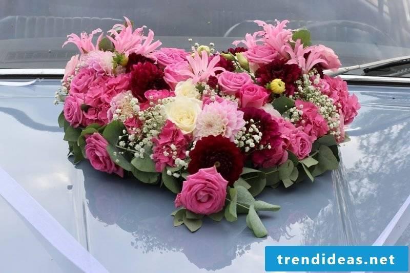 wedding flower arrangements pink