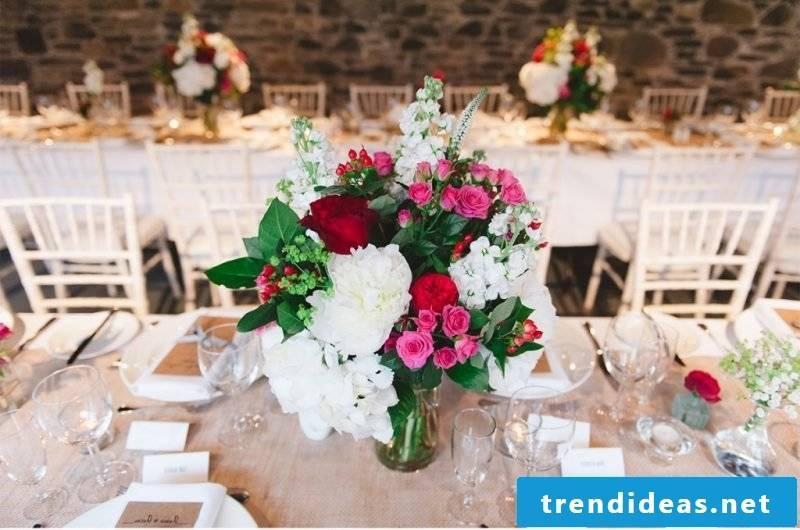 wedding flower arrangements original