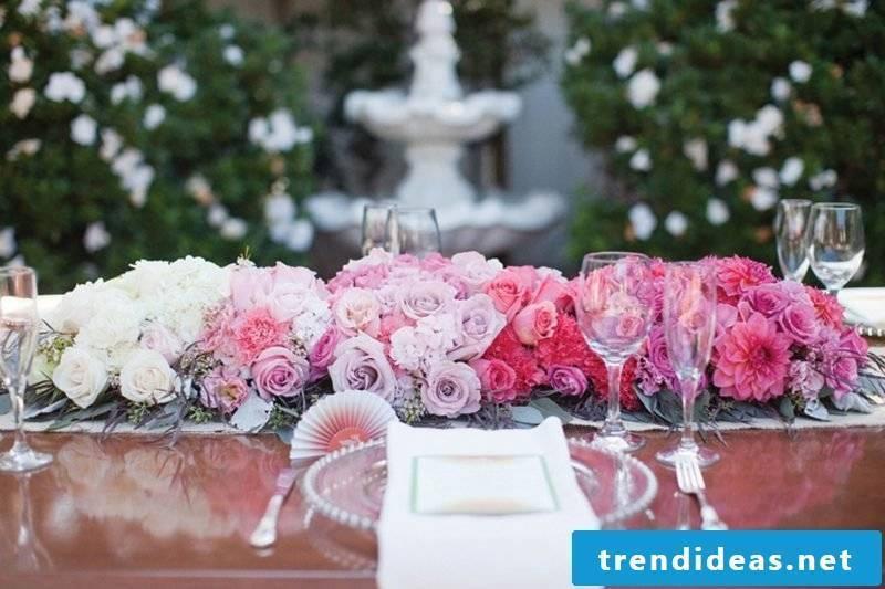 lush floral wedding ornaments
