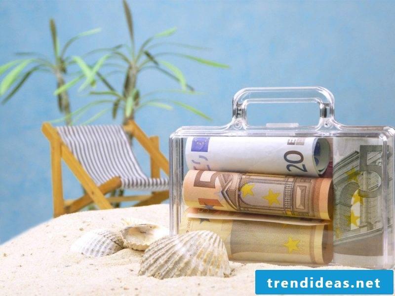 Folding wedding present money