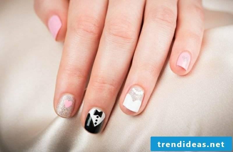 Wedding nails short gorgeous design