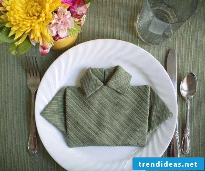 wedding napkins dark green