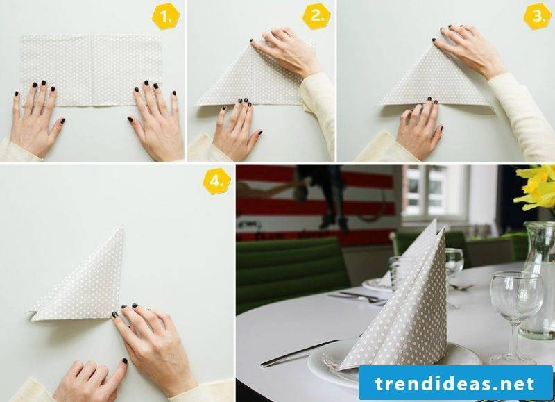 wedding napkins step by step