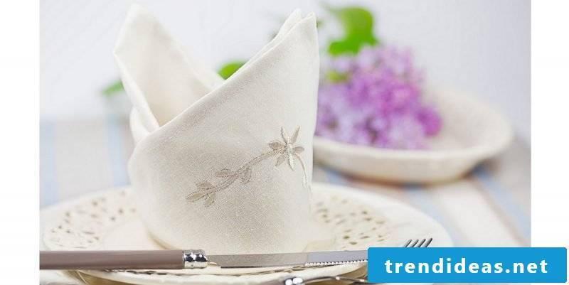 wedding napkins bishop cap