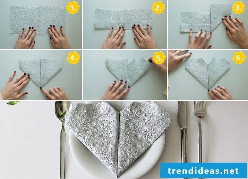 wedding napkins heart