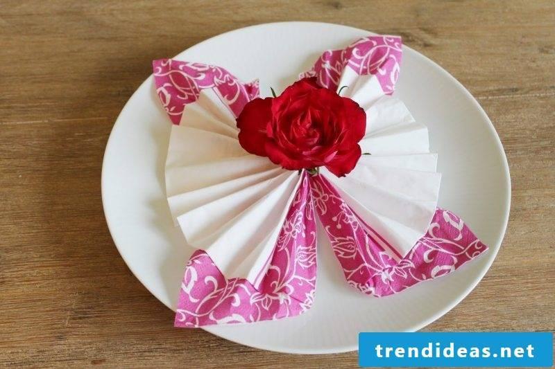 wedding napkins butterfly
