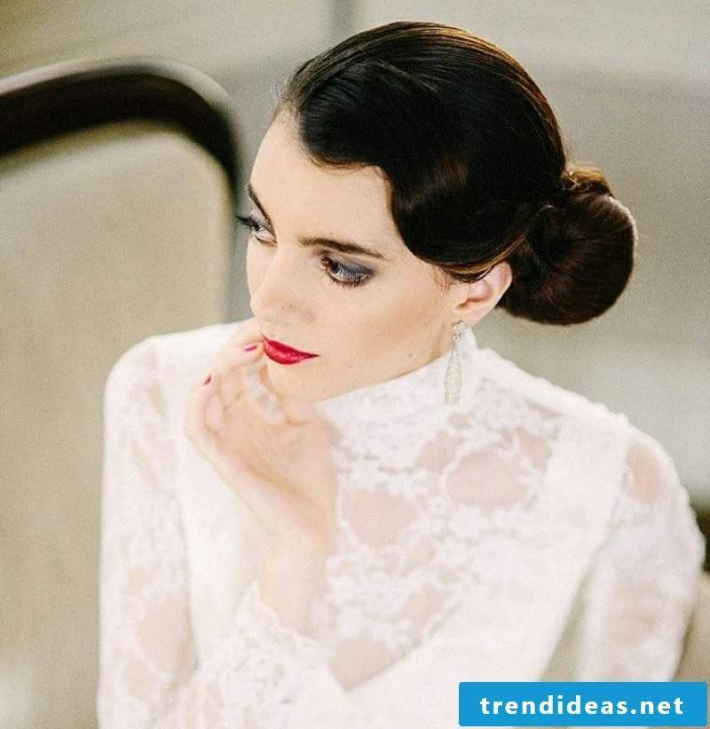 Updos medium length hair retro look