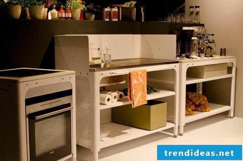 practical modular kitchen retro look