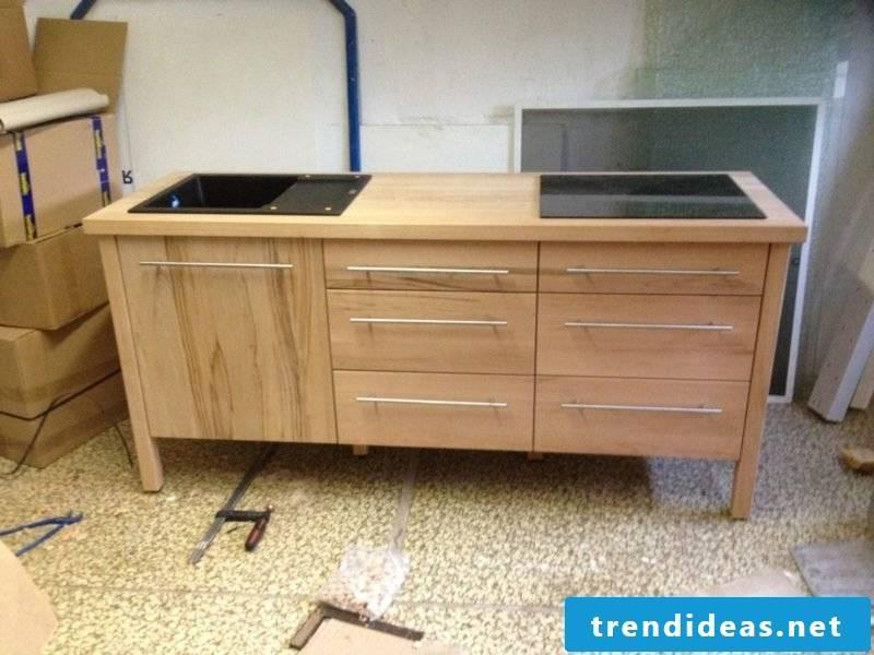 Kitchen module wood