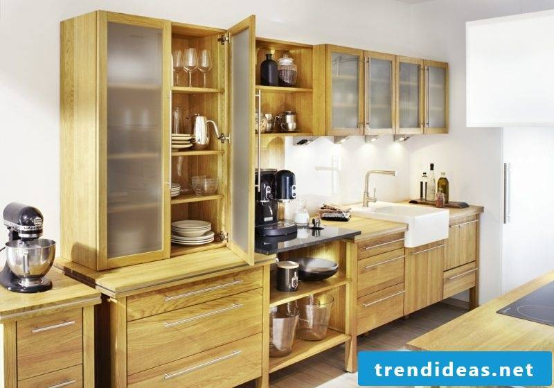Modular kitchen in solid oak wood