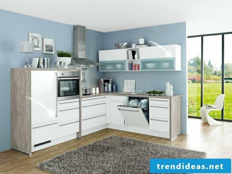 modern modular kitchen in white