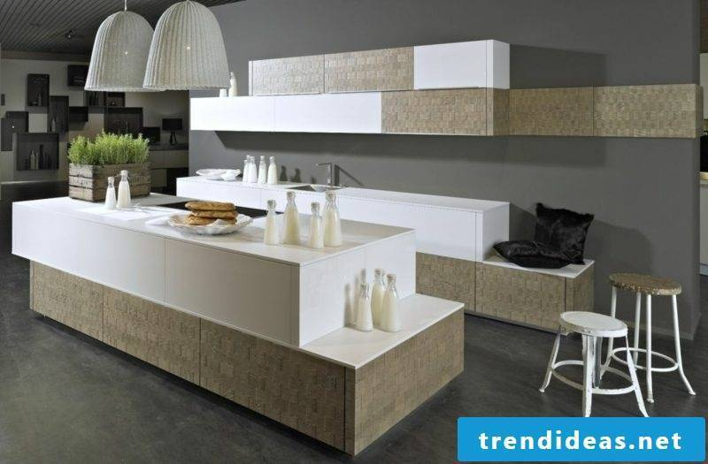 Modular kitchen original look geometric shapes
