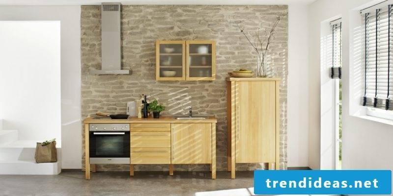Modular kitchen in solid wood practical design