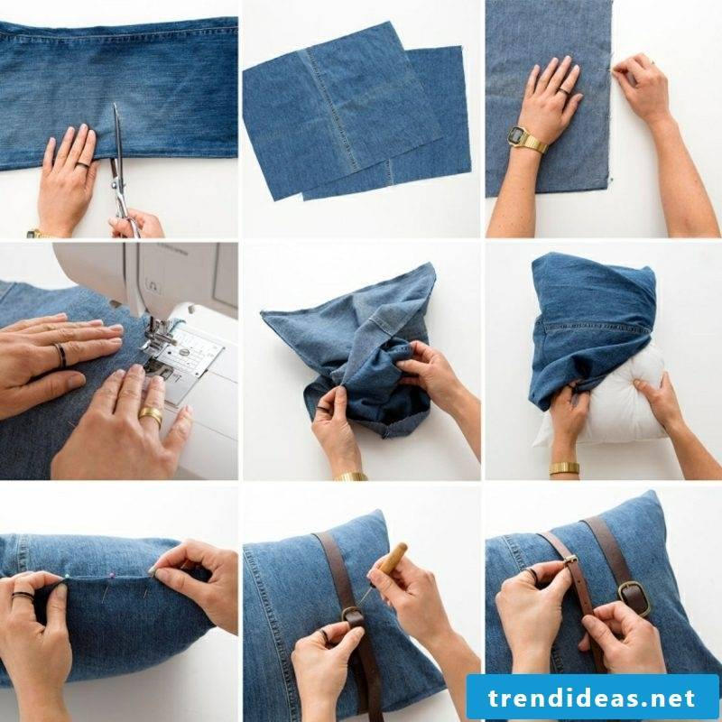 what can you make out of old jeans cushion cover