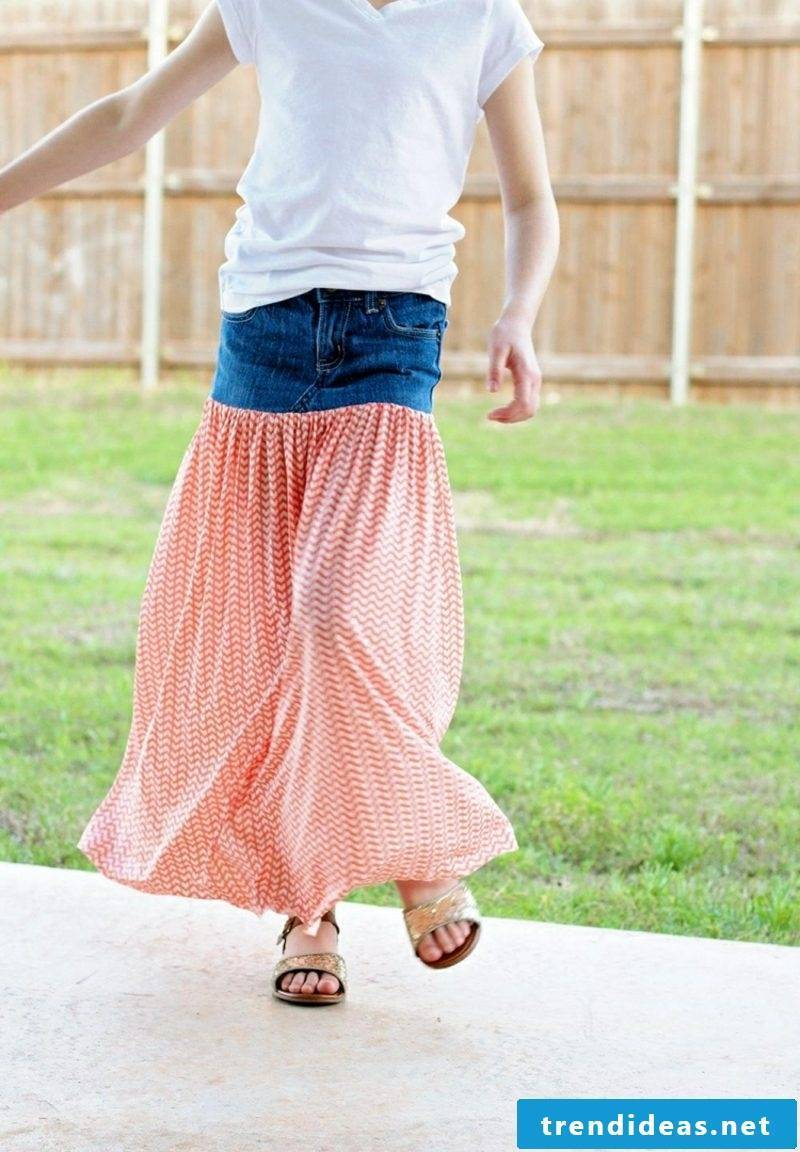 what can you do with old jeans maxi summer skirt
