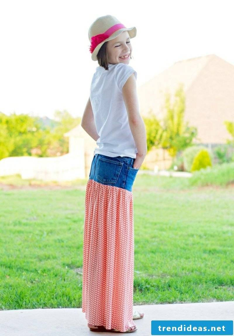 What can you do with old jeans Summer skirt