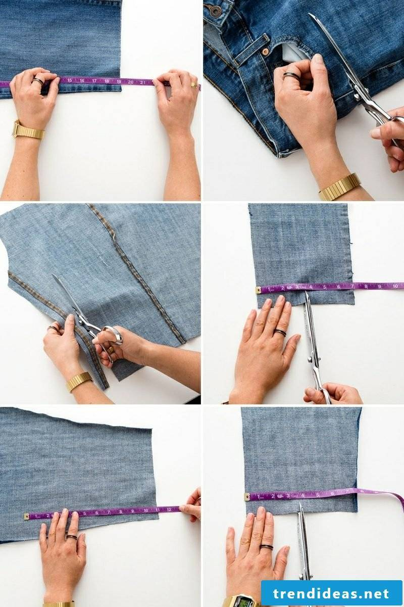 What can one make from old jeans exciting DIY ideas bag