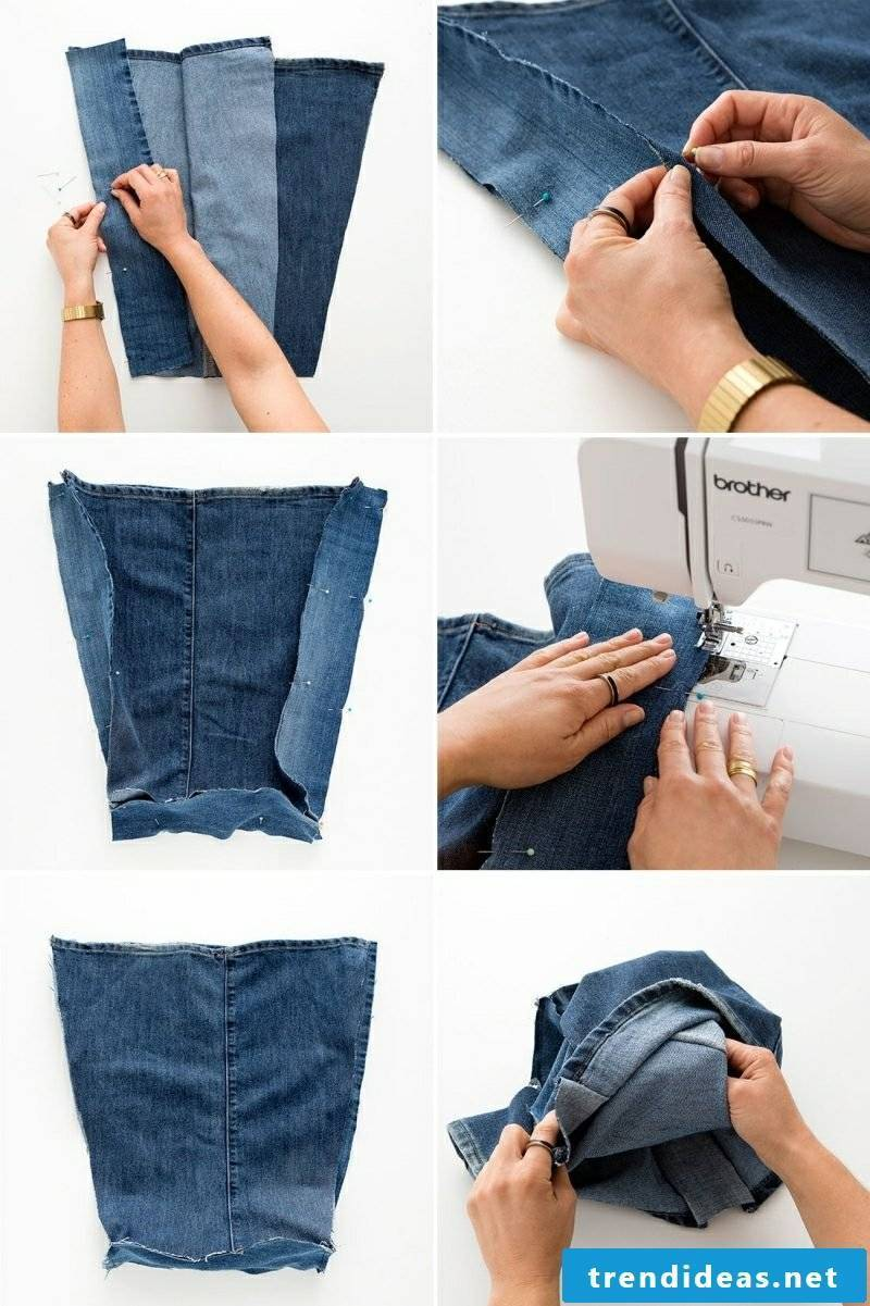what can you do from old jeans bag picture instructions