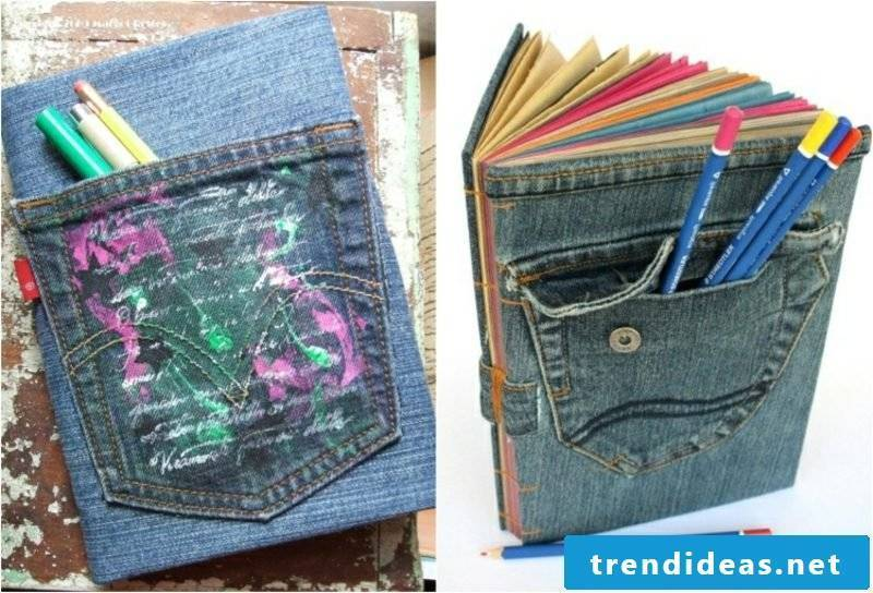 what can you make out of old jeans book cover